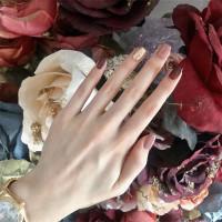 24pc Kuku Palsu / Fake Nails / Nailart Plus LEM Maron Glitter
