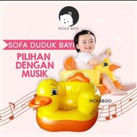 [Ada musik] Sofa kursi bebek tiup angin pompa bayi balita anak anak