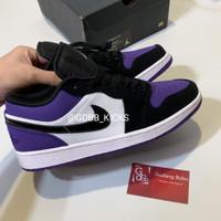 Nike Air Jordan 1 Low Court Purple 100% ORIGINAL MATERIAL GUARANTEE