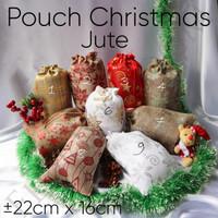 Pouch Christmas Jute - Kantong - Hadiah Natal - Christmas Present