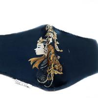 Masker kain karakter unik dan lucu indonesia - wayang hitam