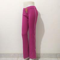 Celana trening senam wanita bebyterry spandex - Magenta, L