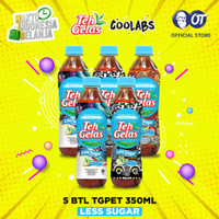 Teh Gelas PET - Less Sugar 350ml - [Bundle 5 Pcs]