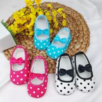 Sepatu bayi perempuan polkadot / prewalker polkadot / prewalker shoes