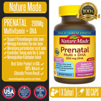 Nature Made Prenatal Multi Vitamin + DHA Folic Acid- Vitamin Ibu Hamil