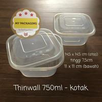 Thinwall 750 ml KOTAK / Food Container Microwave / Kotak Makan Plastik