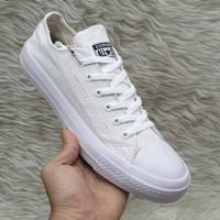Sepatu Converse putih polos pria wanita ukuran 36 37 - 46 45 44 - satu, 36