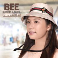 Topi Bucket Hat Anak Pelindung Face Shield Bee Anti Corona - Dewasa