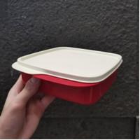 Tupperware Kotak Makan Bersekat Lolly Tup Original Warna Putih Merah