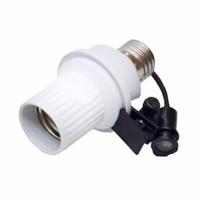 Bukal Fitting Lampu Sensor Cahaya Otomatis - Putih