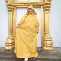 Jas Ujan Wanita mantel hujan, raincoat rok, jas hujan gamis muslimah - Kuning