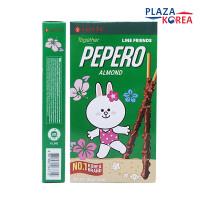 PEPERO BISKUIT BERLAPIS COKELAT ALMOND - LINE ALMOND FRIENDS 32gr