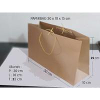 Paperbag / shopping bag / tas kertas polos 30x10x15