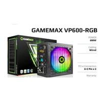 Power Supply PSU RGB 600Watt GAMEMAX VP600 80+