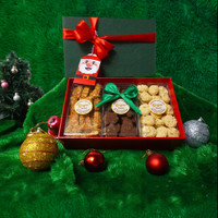 Christmas Hampers Parcel Natal Cookies Kue Kering - Trio Cookie Box
