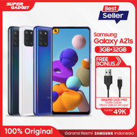 Samsung Galaxy A21s [3GB/32GB] Free Oraimo Cable Data OCD-M53