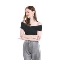 Baju Atasan Crop Wanita Sexy Cross Import