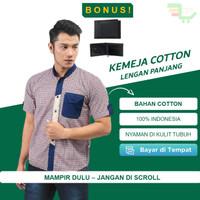 Kemeja Pria Lengan Pendek Premium Executive Office Look Cotton