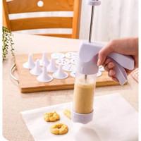 PAKET SET Alat Cetak adonan Kue Cookies Otomatis Cetakan Biskuit cake