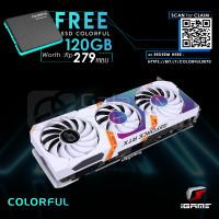 COLORFUL iGame GeForce RTX 3070 Ultra 8GB W OC-V GDDR6 White - Ampere