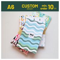 Custom Softcover Notebook A6 Notes Blocknote Souvenir Pernikahan