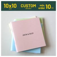 Softcover Notes 10x10 cm Custom Souvenir Notebook Jasmine Staples