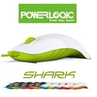 Mouse USB Optical Wired Modis Ambidextrous 1000CPI PowerLogic SHARK