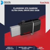 Flashdisk OTG Sandisk 32GB Ultra Dual Drive DD2 USB 3.0