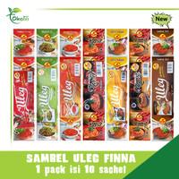 sambel uleg finna terasi/ijo/pedas/kemiri/rawit/bawang (isi 10 sachet)