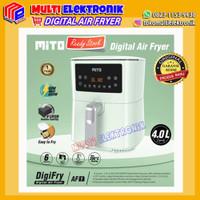 Digital Air Fryer Mito Original Garansi Resmi - hijau tosca