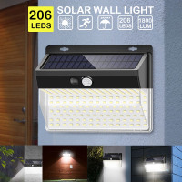 Lampu Solar Panel Sensor Gerak Outdoor Waterproof 206 LED