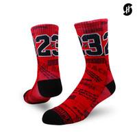 Stayhoops - Kaos Kaki Fashion - MJ 23 Fullprint Sock