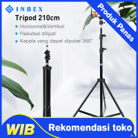 INBEX Tripod Kamera 210CM/ Portable Light Stand 3 Section for Photo