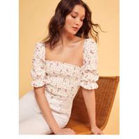 Baju Atasan Blouse Korea White Sweet Import