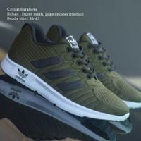 Sepatu Sneakers Adidas Running Pria Wanita Hijau Army