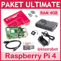 Paket Lengkap Ultimate Raspberry Pi 4 RAM 4GB Made in UK