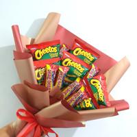 Snack Bouquet/ Buket Cheetos dan Beng beng
