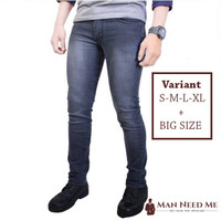 Celana Jeans Pria SLIM FIT DENIM STRETCH - ABU-ABU