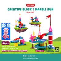 IQAngel Creative Block & Marble Run Toys Happy Castel / Lego Block