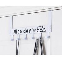NICE DAY Hanger / Gantungan Baju Pakaian Besi Belakang Pintu 6 Kail