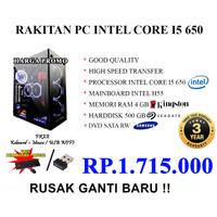 CPU RAKITAN PC INTEL CORE I5 650 FREE KEY MOUSE