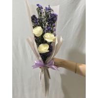 hand bouquet buket bunga mawar asli fresh free greeting card