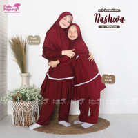 Promo One set pajamas home dress baju muslim anak set hijab katun adem