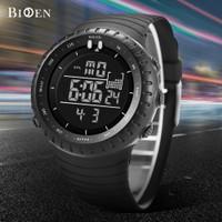 BIDEN jam tangan pria Olahraga Militer Digital Tali silikon Tahan Air