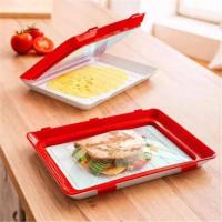 Vakum Tray Rak Kulkas Vacuum Sealer Food Kotak makan Tupperware (OTW)