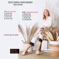 Piyama Branded Wanita - DE FACTO 07 PJAMAS CREAM ENGRAVE