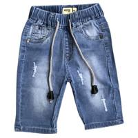 Denim pants with small rips - MOEJOE