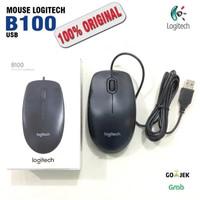 Mouse USB B 100 Corded Wire Kabel Optical Mouse Logitech B100 ORIGINAL