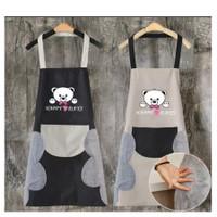Celemek BEAR / Premium Apron Celemek Masak Waterproof Anti Air Minyak