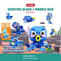 IQAngel Creative Block & Marble Run Toys Ocean Explorer / Mainan Lego